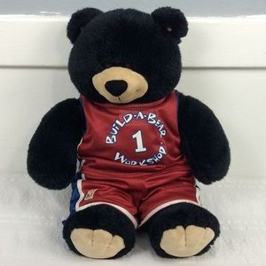 "Talking Build a Bear Black 17""  NBA Outfit"